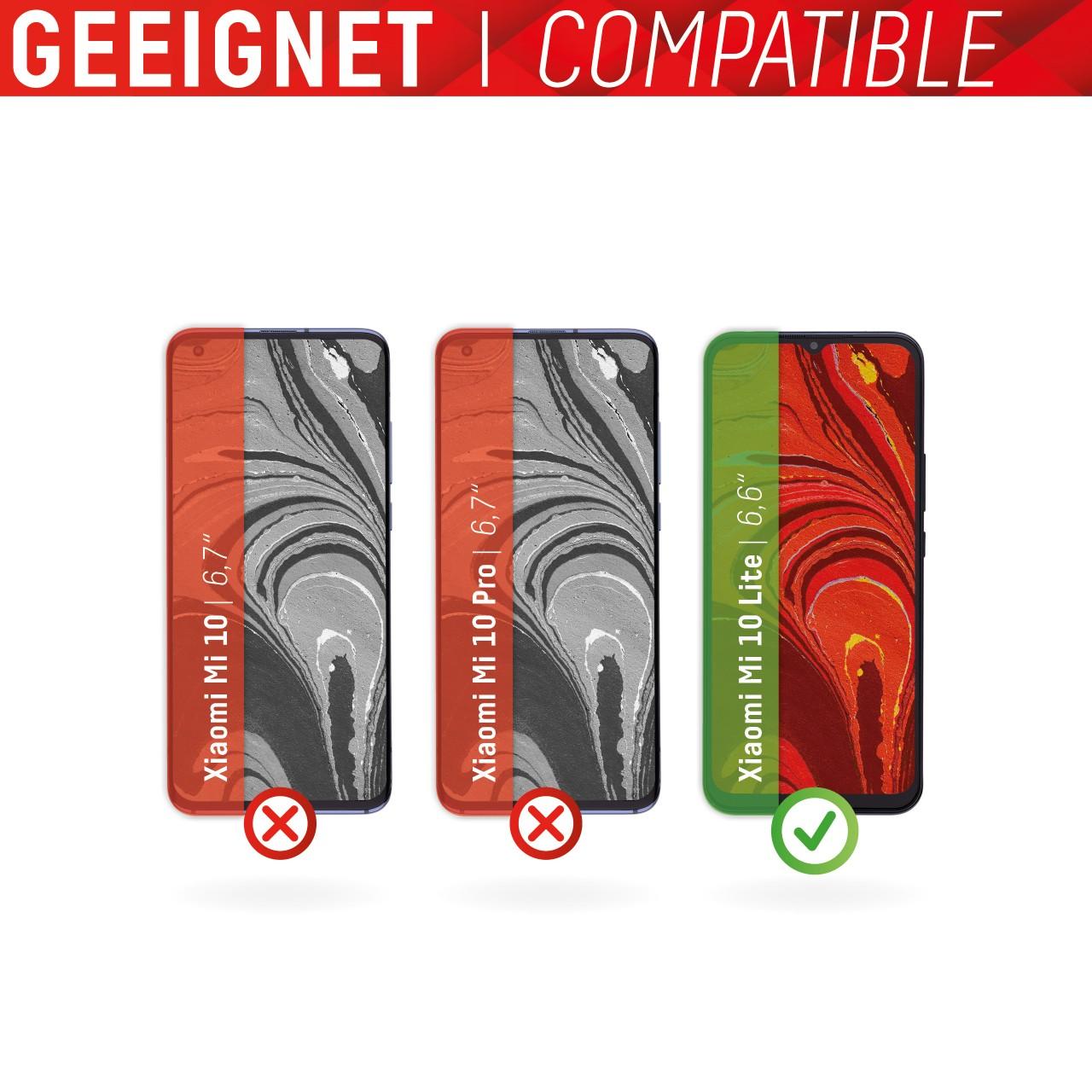 Mi 10 Lite Schutzglas (2D)