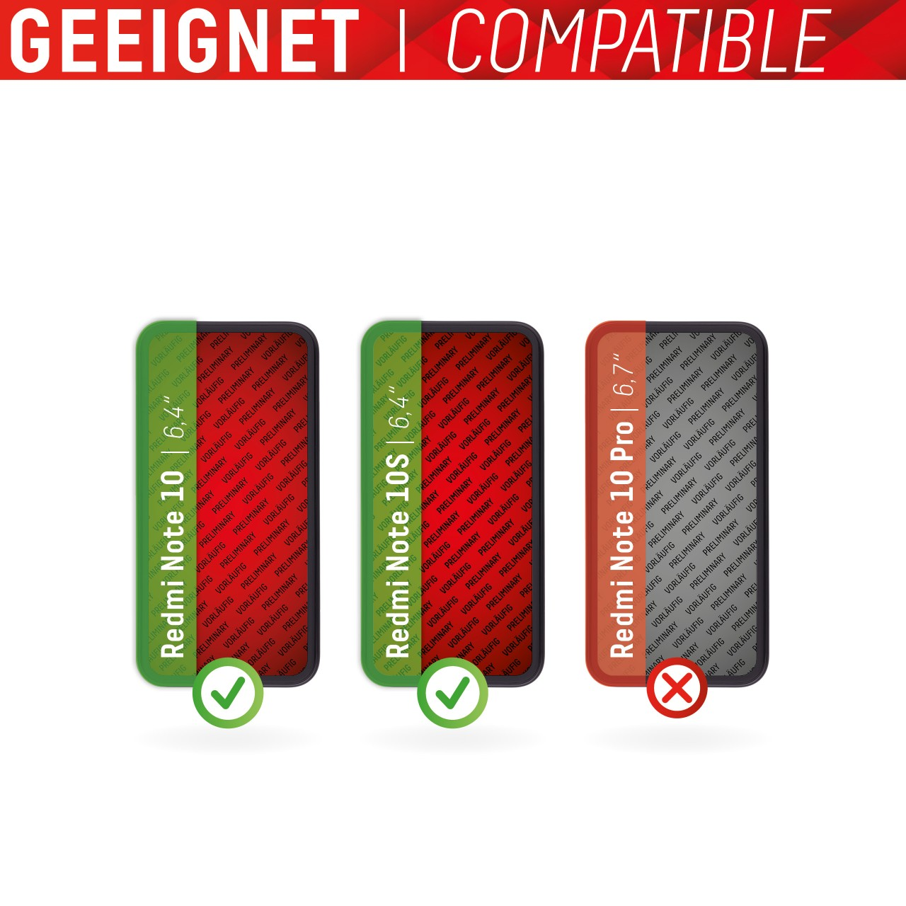 """Real Glass for Xiaomi Redmi Note 10/10S (6,4""""), 2D"""