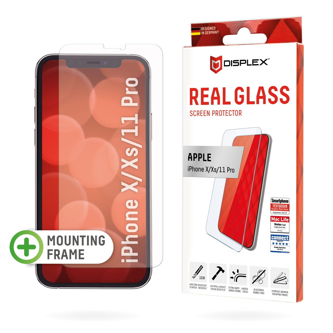 """Real Glass for Apple iPhone X/XS/11 Pro (5,8""""), 2D"""