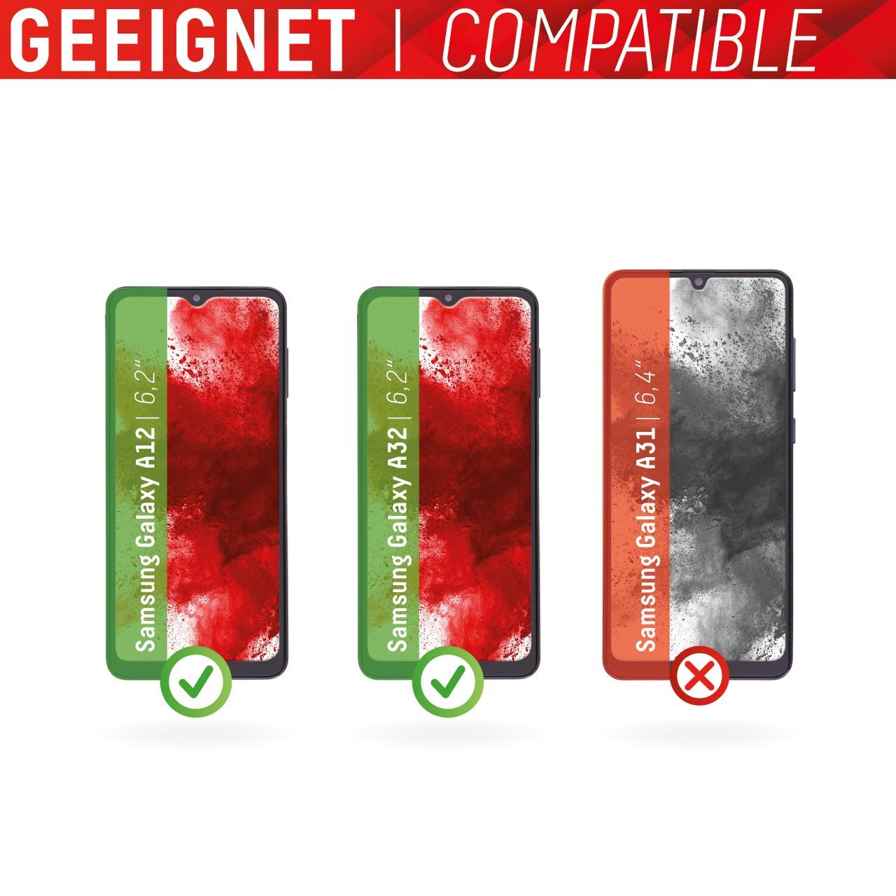 "Real Glass für Samsung Galaxy A12/A32 5G (6,2""), 2D"