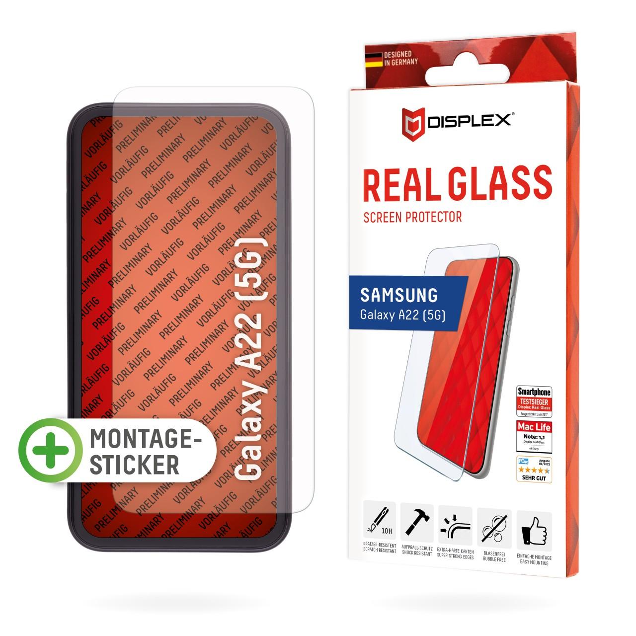 Galaxy A22 5G Schutzglas (2D)