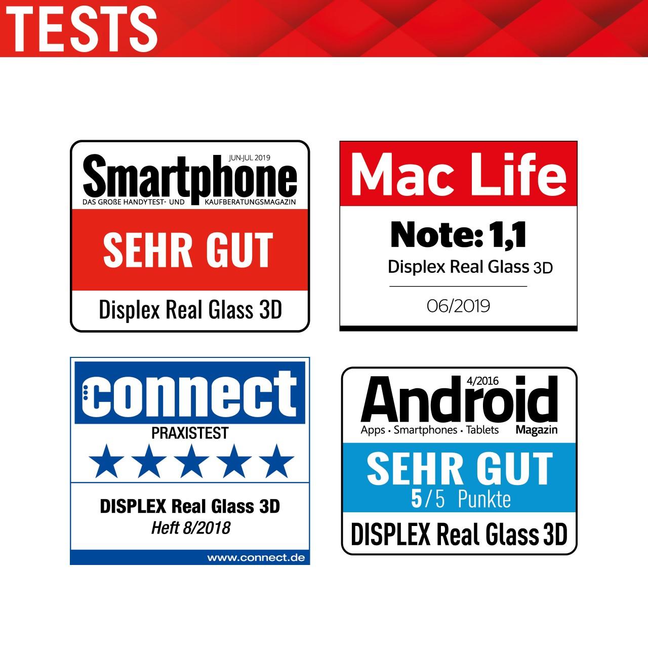 """Real Glass für Xiaomi Mi 10/10 Pro (6,7""""), Full Cover"""