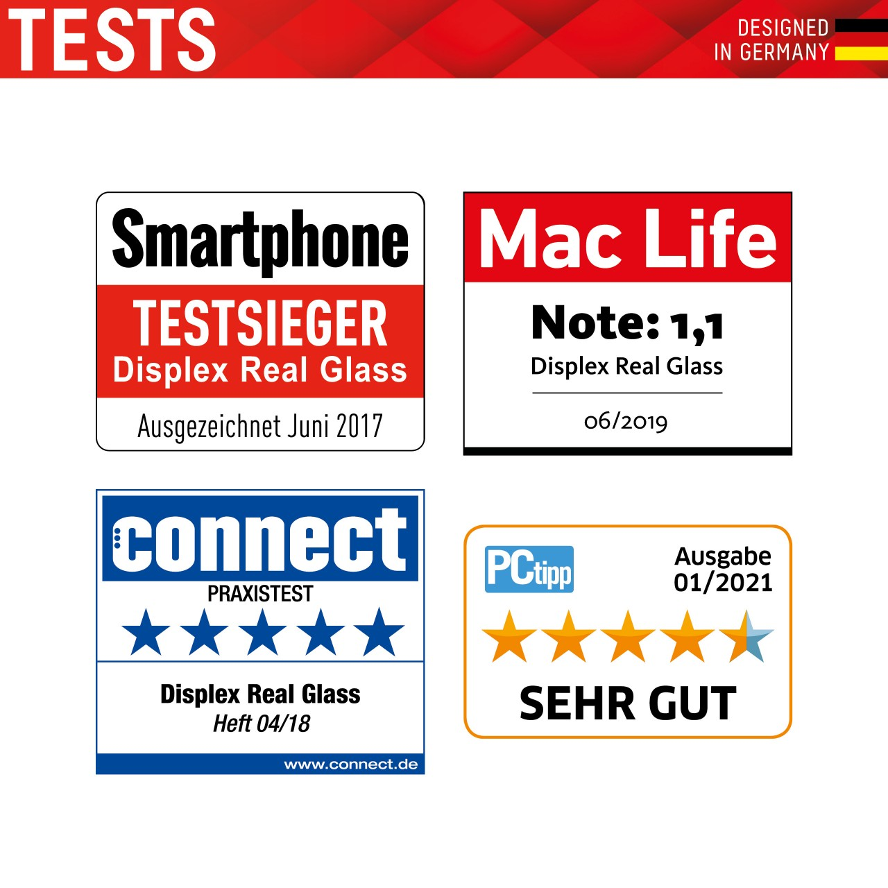 "Real Glass + Case für Samsung Galaxy A52/A52 5G (6,5""), 2D"