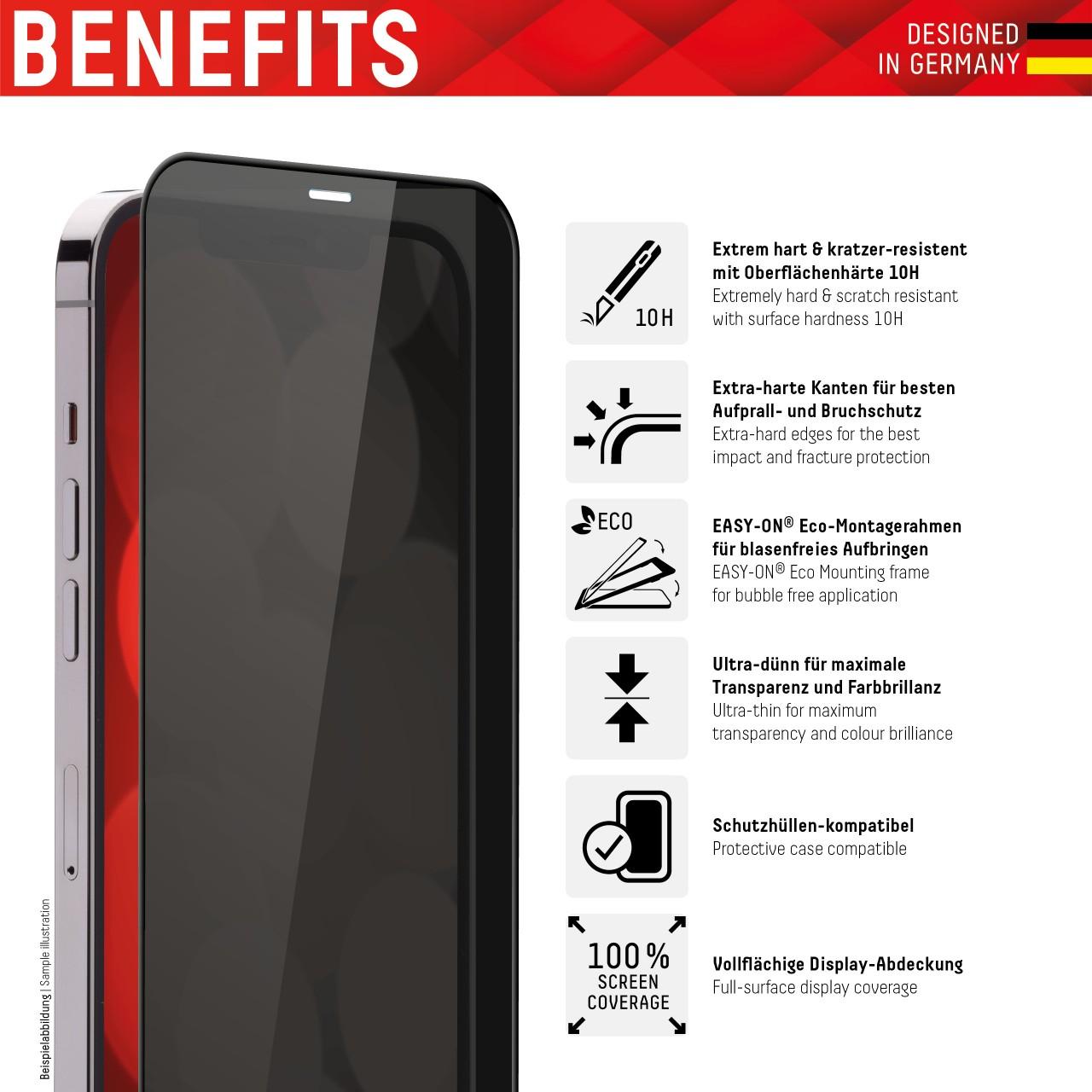 iPhone 13 Pro Max Privacy Schutzglas