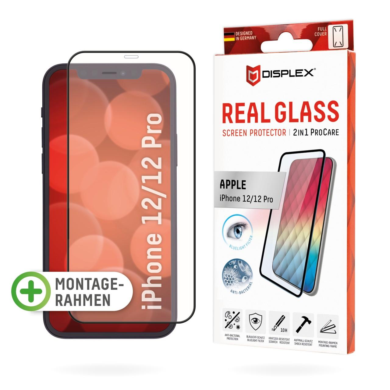 iPhone 12/12 Pro 2in1 Schutzglas (antibakteriell/ Bluelight)