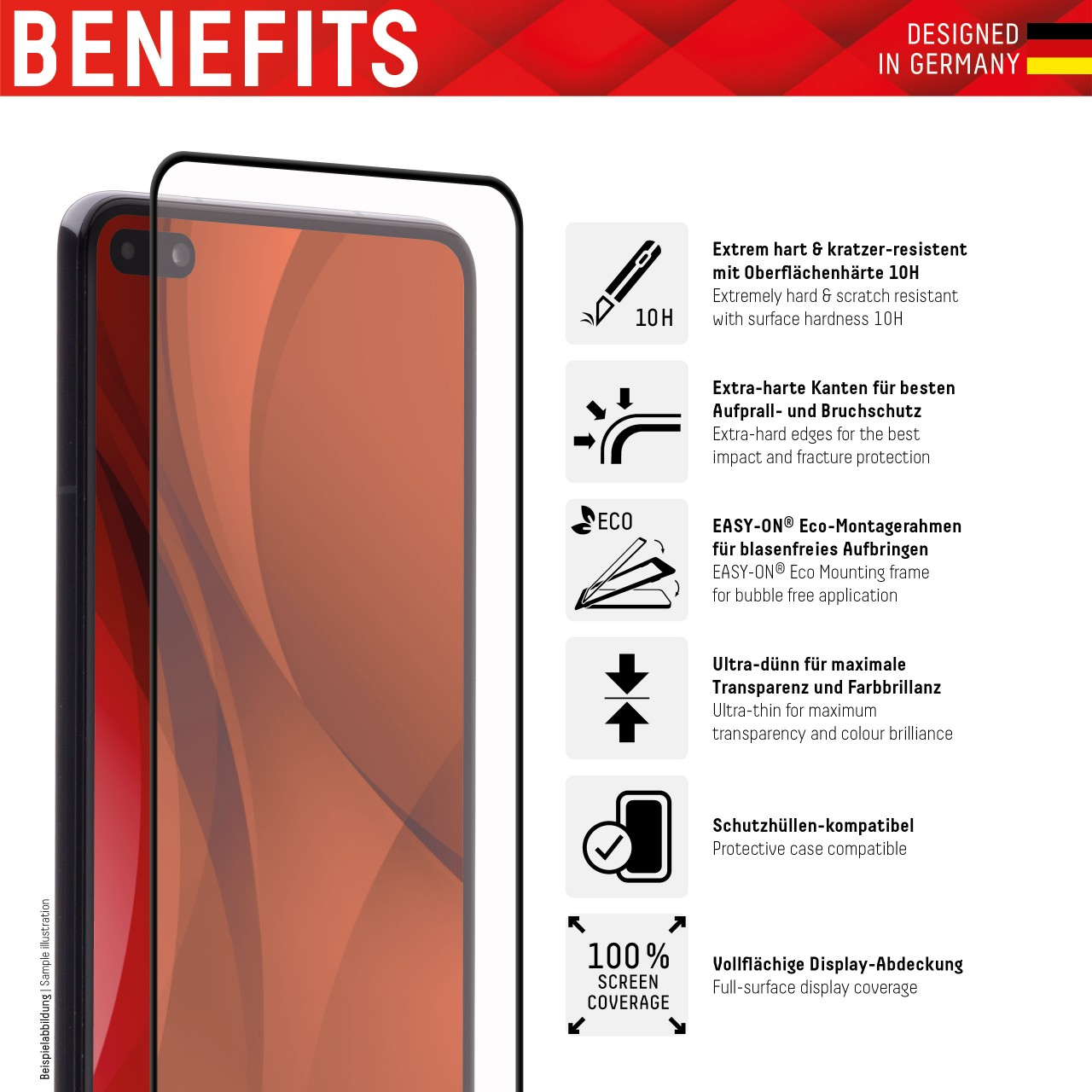"""Real Glass for Huawei P40 lite (6,4""""), Full Cover"""