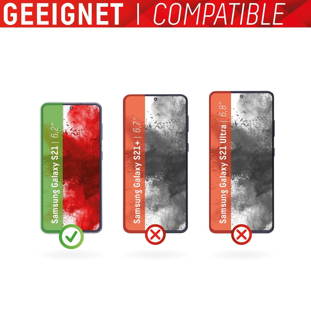 Galaxy S21 5G Full Cover Schutzglas