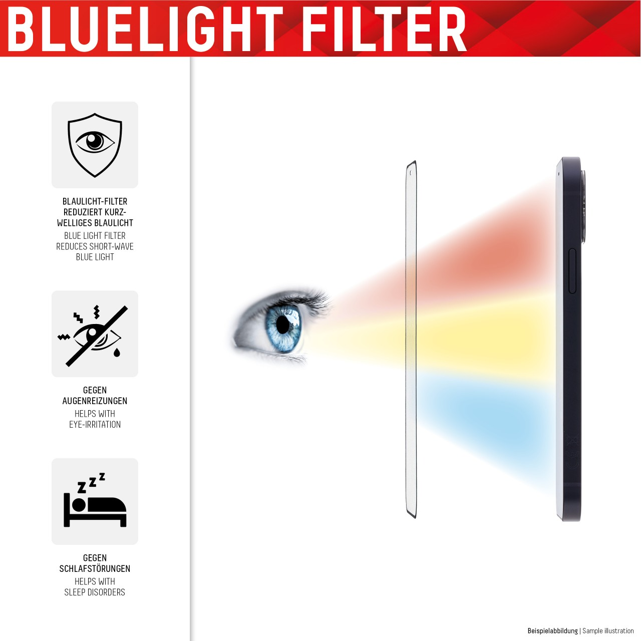 """Real Glass 2in1 ProCare für Apple iPhone X/XS/11 Pro (5,8""""), Full Cover"""