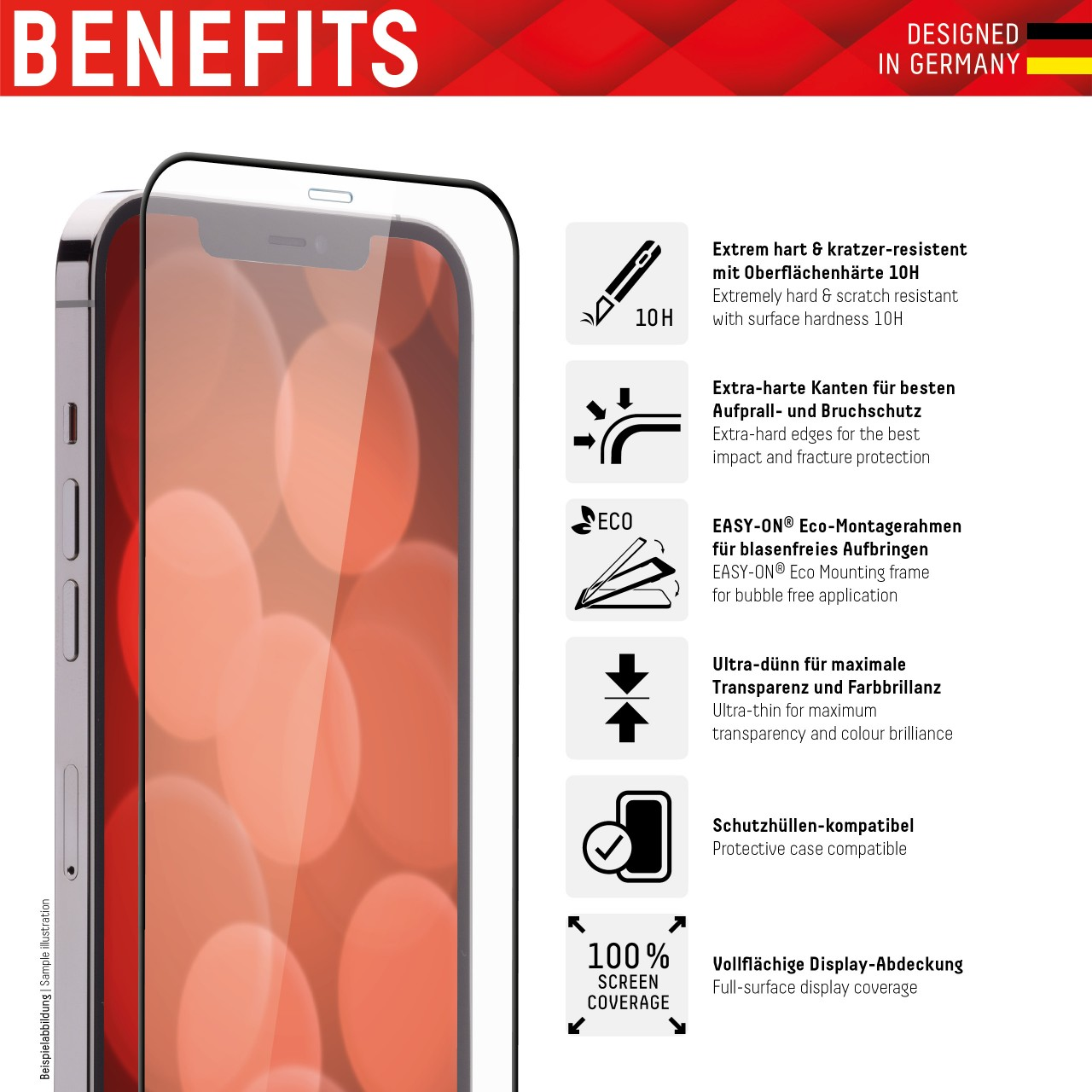 iPhone 13/13 Pro Full Cover Schutzglas