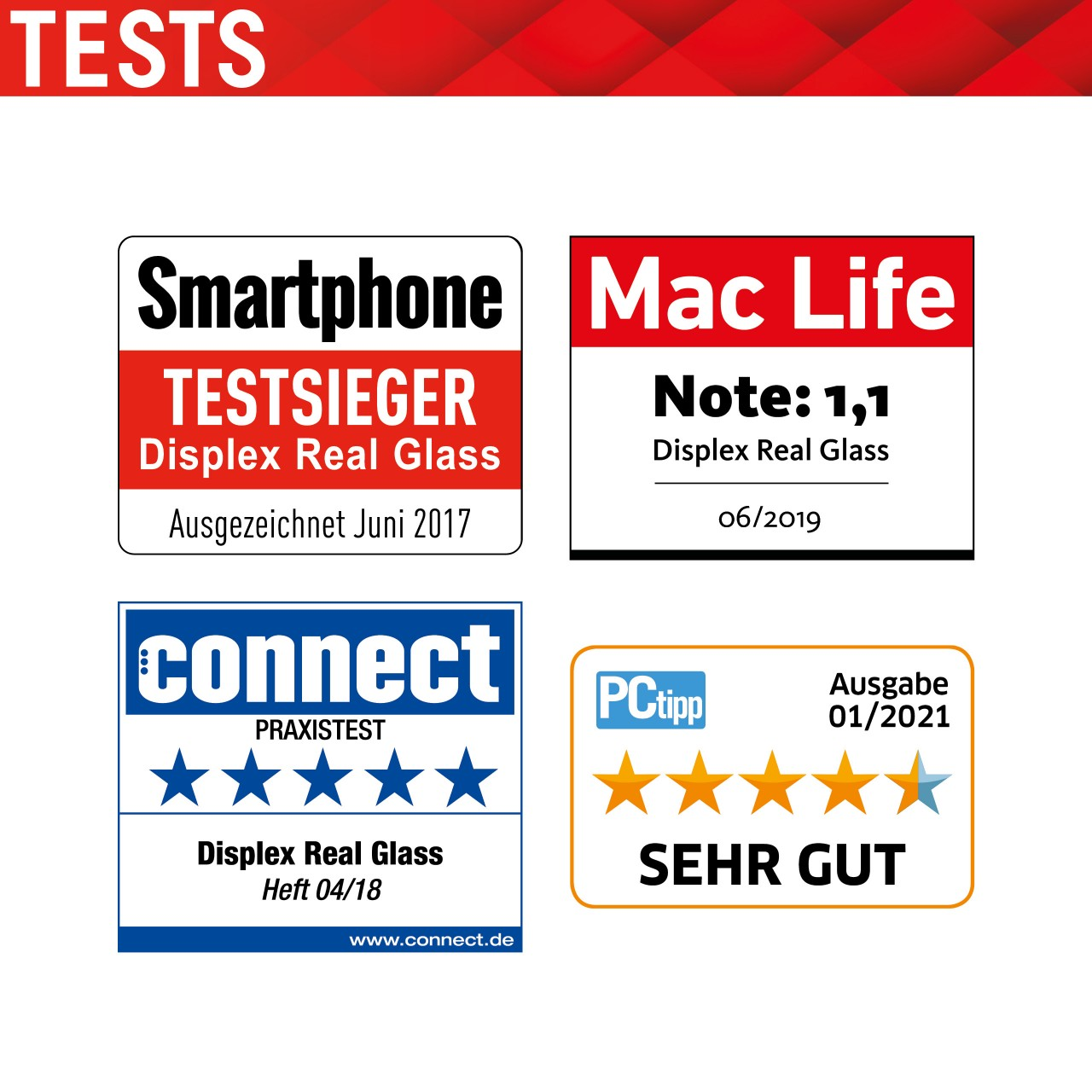"Real Glass für Huawei P40 lite 5G (6,5""), 2D"