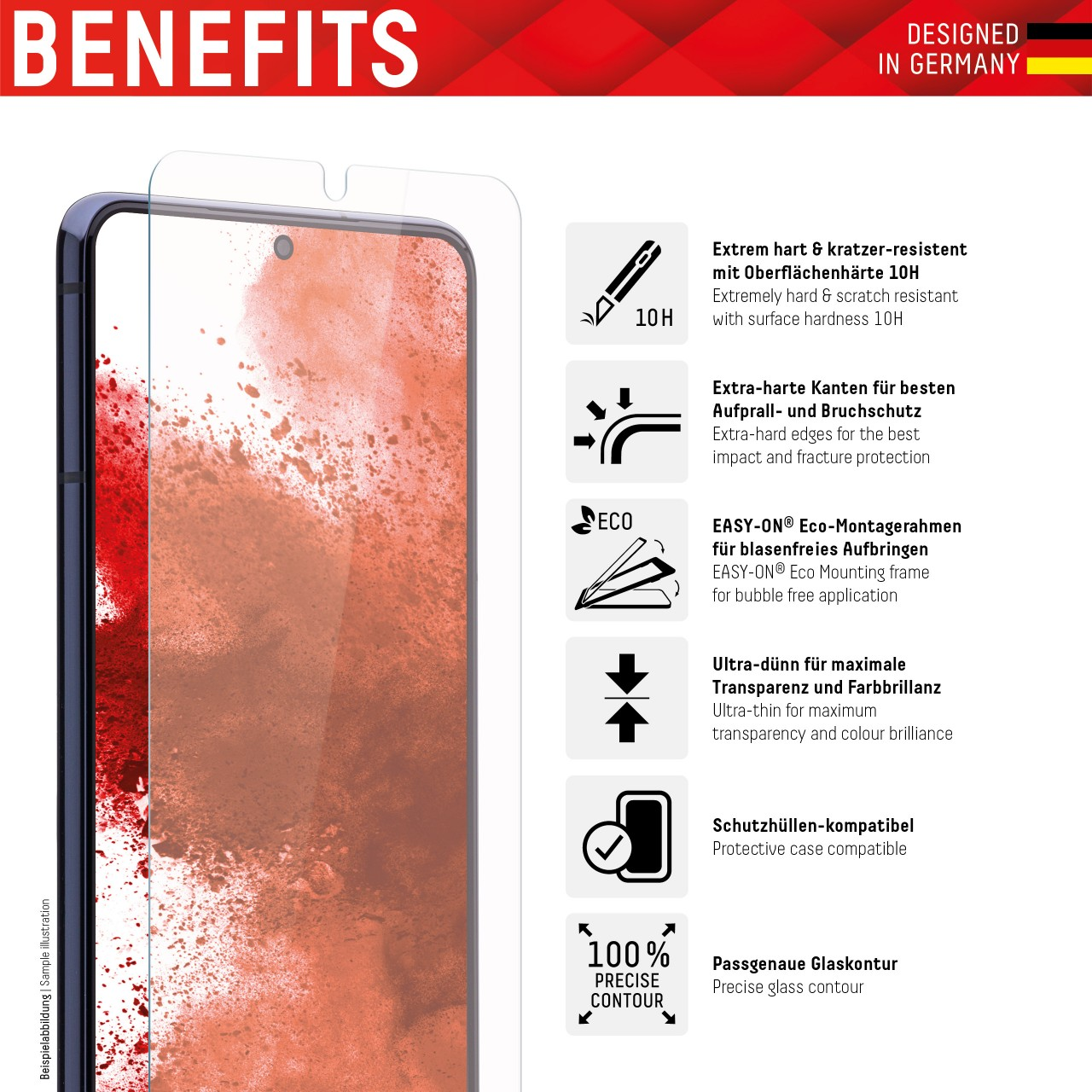 """Real Glass für Samsung Galaxy S21+ 5G (6,7""""), 2D"""