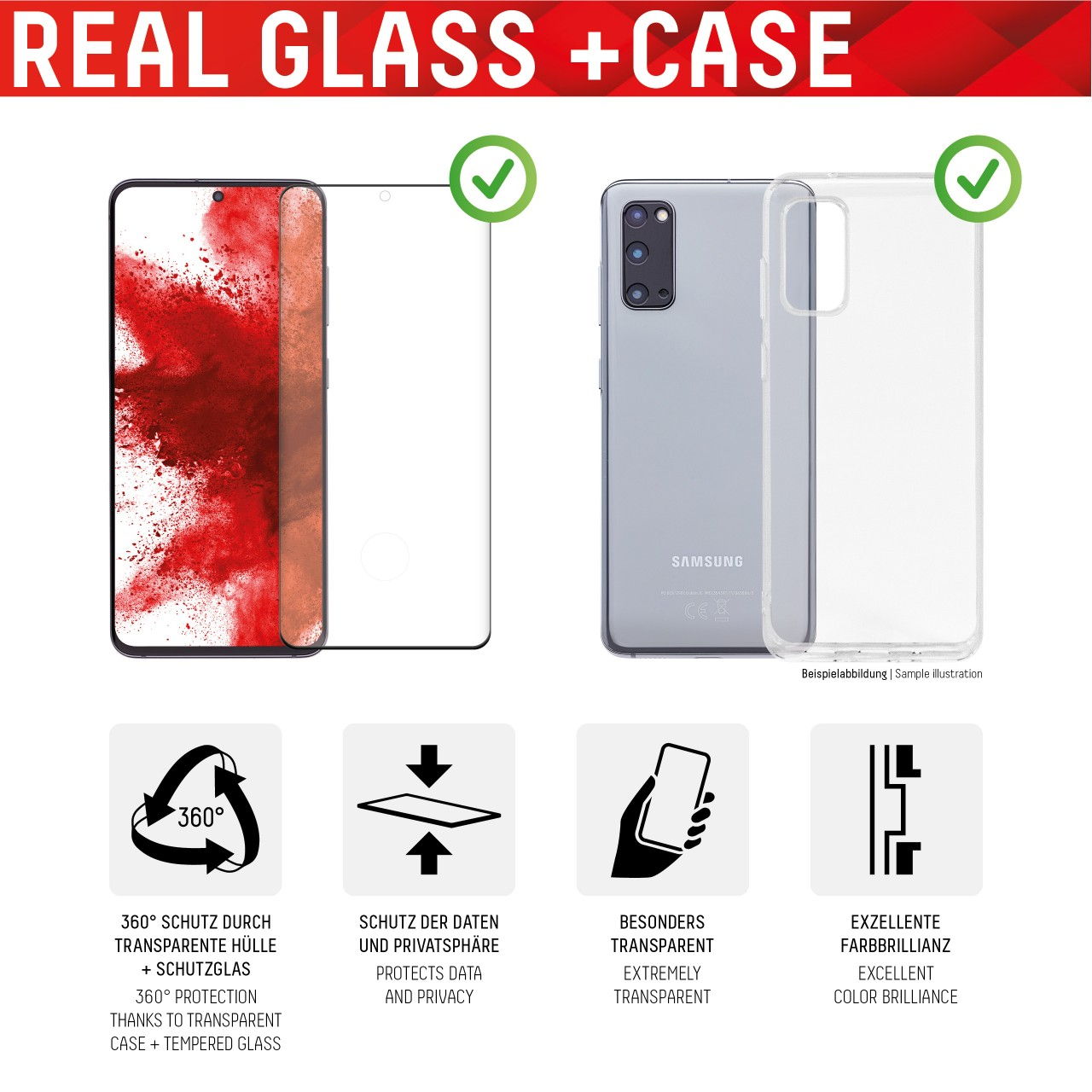 """Real Glass for Samsung Galaxy S21 (6,2""""), Full Cover"""