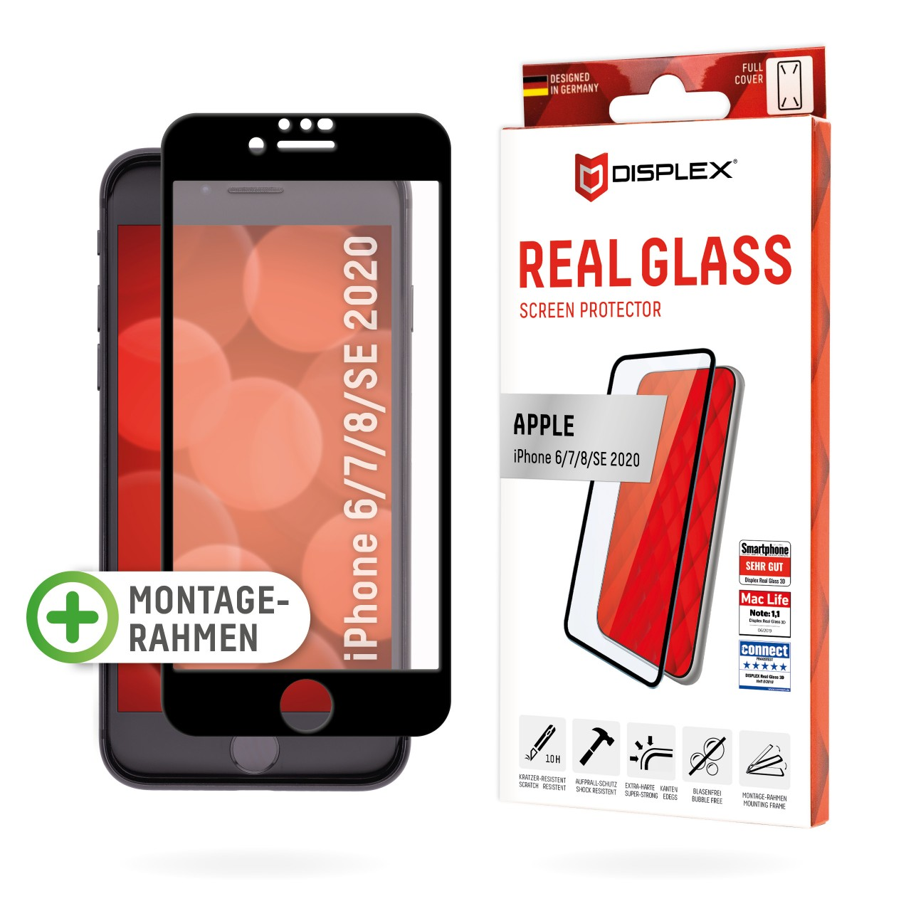 """Real Glass for Apple iPhone 6/7/8/SE(2020) (4,7""""), Full Cover"""