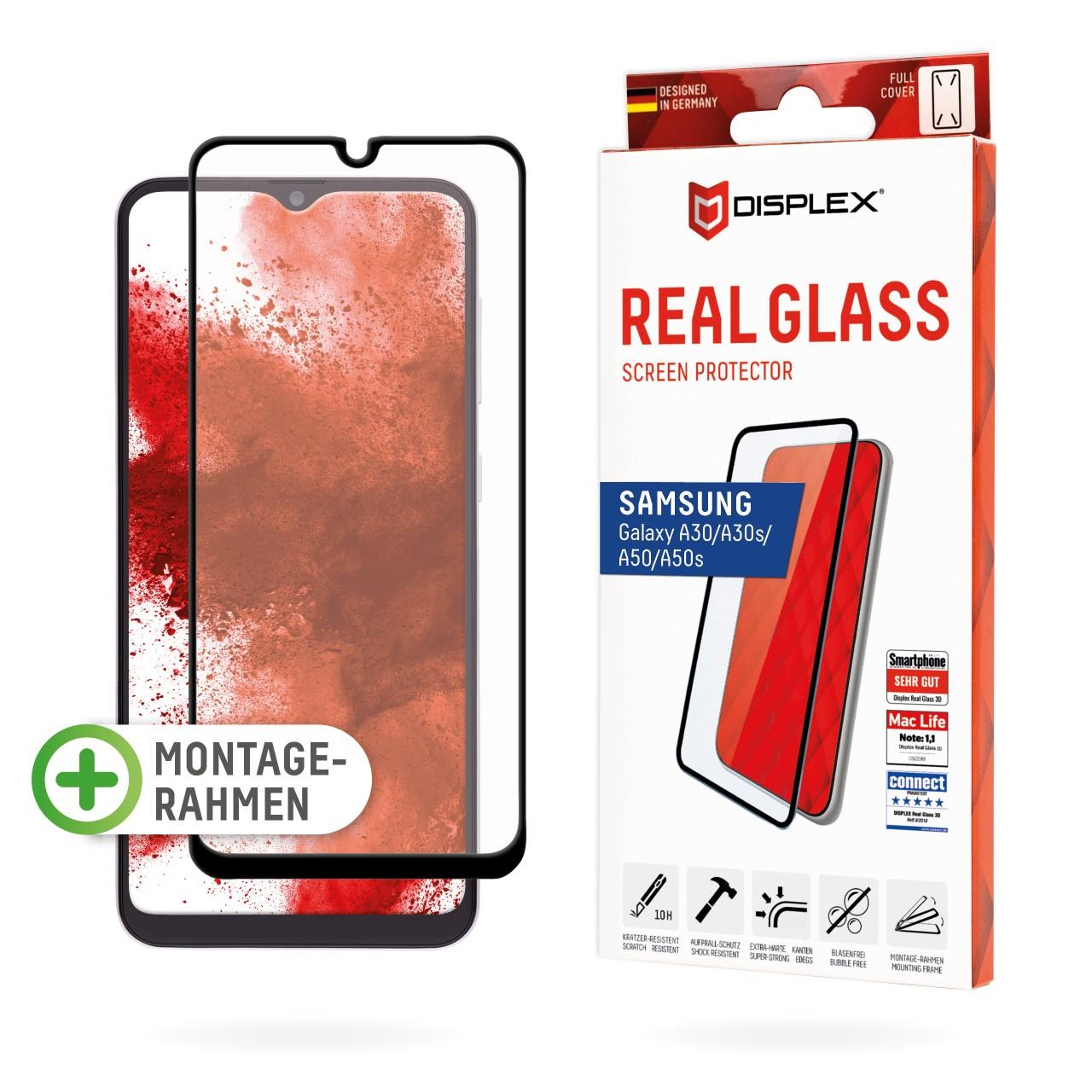 Galaxy A30/A30s/A50/A50s Full Cover Schutzglas