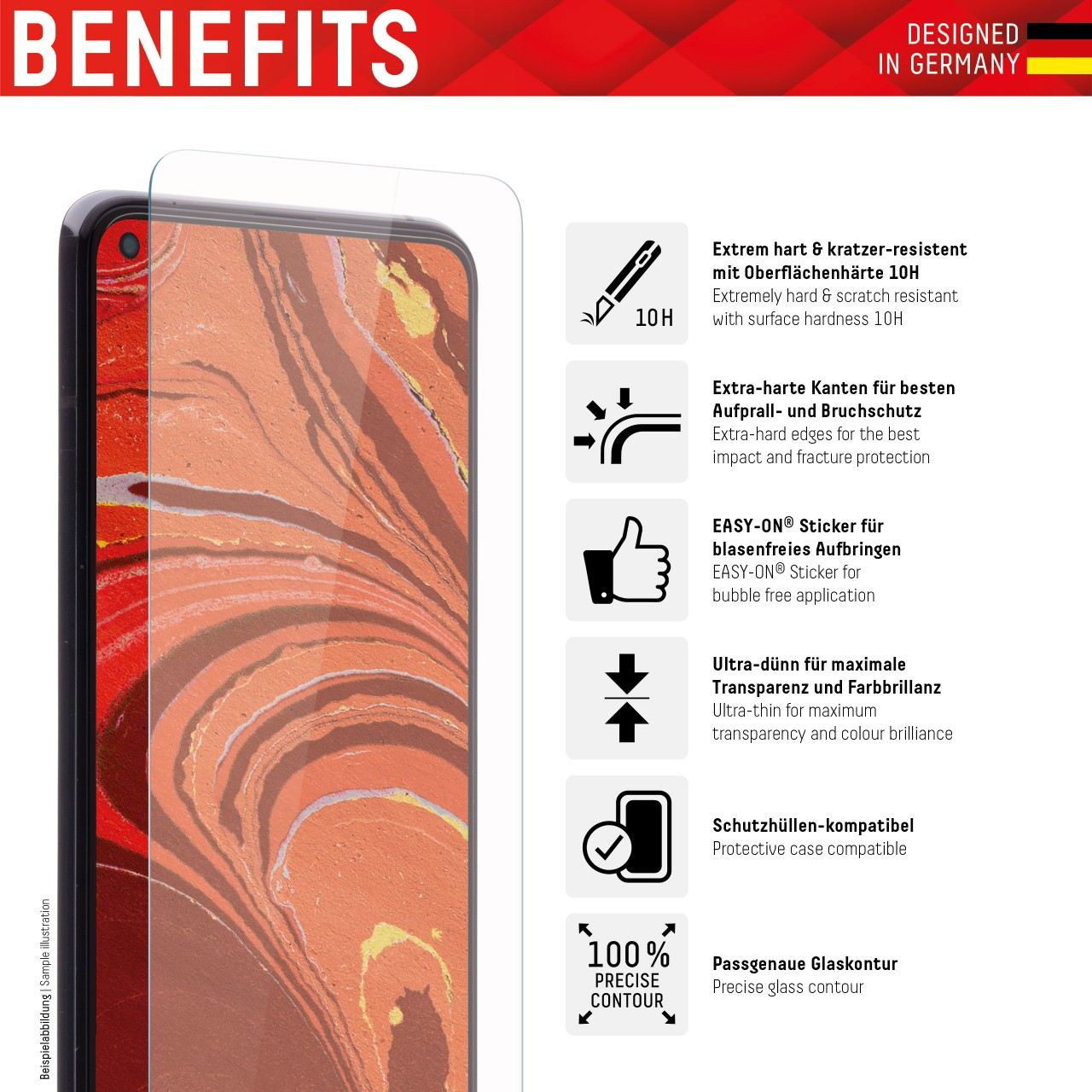 """Real Glass for Xiaomi Redmi 9A/9C (6,5""""), 2D"""